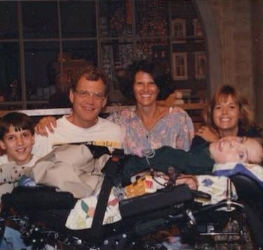 Mike and his family with David Letterman